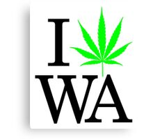 I Heart WA - Legalized Marijuana Logo Canvas Print