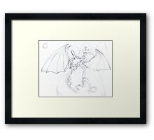 dragon fight Framed Print
