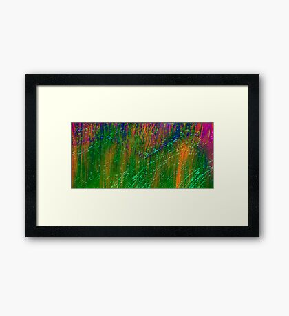 Psychedelic Grass Framed Print