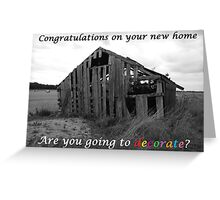 New Home Card Greeting Card