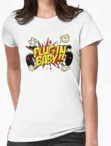 Plug In Baby Womens Fitted T-Shirt