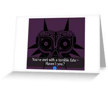 Legend of Zelda - Majora's Mask: Terrible Fate Greeting Card