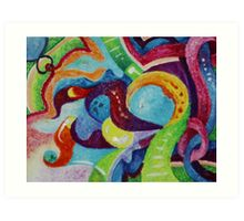 Interlaced (Oil Pastels)- Art Print