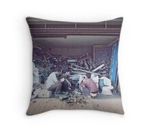 the shanghai salvage store Throw Pillow
