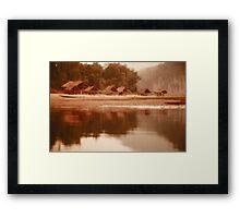 bambo river reflexion Framed Print