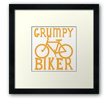 Grumpy BIKER! with bicycle Framed Print