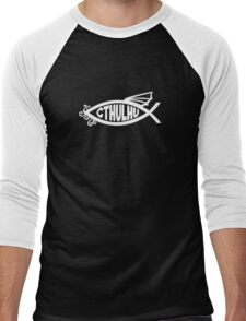 Cthulhu Fish Men's Baseball ¾ T-Shirt