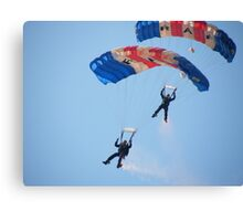 The RAF Falcons Freefall Parachute Display Team 5 Canvas Print