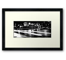 bnw acme Framed Print