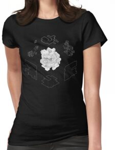 Isometric Cube Womens Fitted T-Shirt