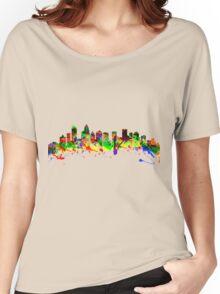 Charlotte North Carolina USA City Skyline Women's Relaxed Fit T-Shirt