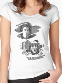 The Doctor and Donna Noble (without DW Logo) Women's Fitted Scoop T-Shirt