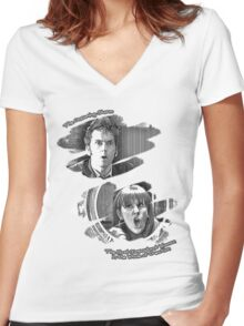 The Doctor and Donna Noble (without DW Logo) Women's Fitted V-Neck T-Shirt