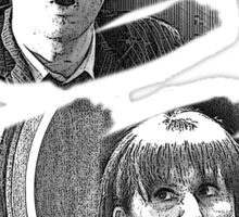 The Doctor and Donna Noble (without DW Logo) Sticker