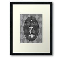 Twin Peaks Damn Fine Cup of Coffee Agent Cooper Framed Print