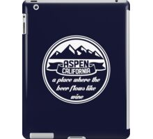 Aspen, California iPad Case/Skin
