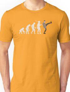 Evolution of Bean (White) Unisex T-Shirt
