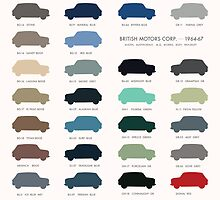 Austin Mini classic - 60's original colours  by opul