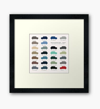 Austin Mini classic - 60's original car colours  Framed Print