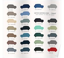 Austin Mini classic - 60's original car colours  Poster