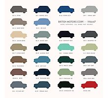 Austin Mini classic - 60's original car colours  Photographic Print