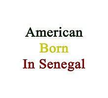 American Born In Senegal  Photographic Print