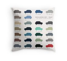 Austin Mini classic - 60's original colours  Throw Pillow