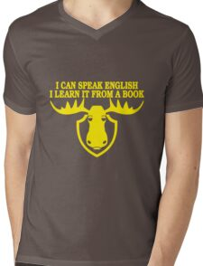 I Can Speak English, I Learn It From a Book Mens V-Neck T-Shirt