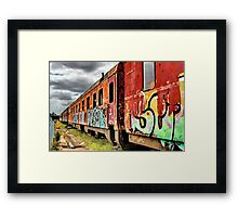 """""""Out Of Service"""" Framed Print"""