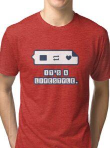 It's a Lifestyle (Dark Outline) Tri-blend T-Shirt