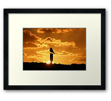 A sunset to crow about Framed Print