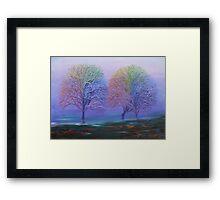 Rainbow Trees Framed Print