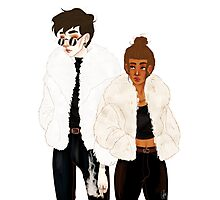 Criminals and Fur Coats Photographic Print