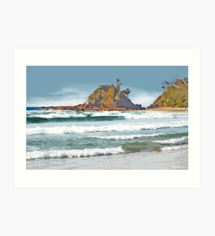 The Pass Byron Bay Art Print