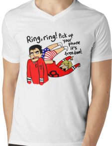 Patrick Kane's Freedom Phone Mens V-Neck T-Shirt