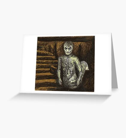 Reptile Boy - Demon - BtVS Greeting Card