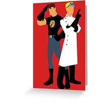 Dr Horrible - White Greeting Card
