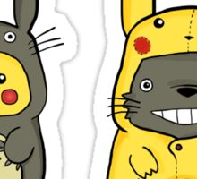 Totoro and Pikachu Onesies Sticker