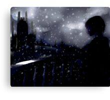 snow scene (the longing) Canvas Print