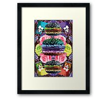 WELCOME TO GOTH BURGER  Framed Print