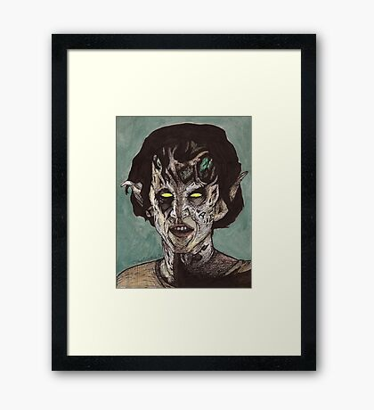 The Dark Age - Eyghon/Jenny - BtVS Framed Print