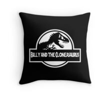 Billy And The Cloneasaurus Throw Pillow