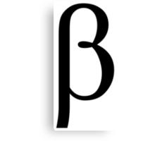 Beta. Greek alphabet. Canvas Print