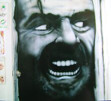 mural in tattoo shop by Airbrushr  Rick Shores