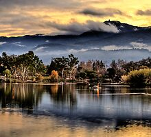 Sunet at Lake Almaden by Laura Pflibsen