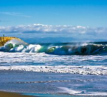 The Wave - in Santa Cruz by Laura Pflibsen