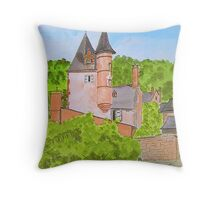 Chateau. { Water colour} Throw Pillow