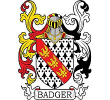 Badger Coat of Arms Photographic Print