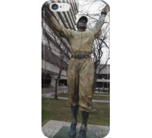 Jackie Robinson Statue, Journal Square, Jersey City iPhone Case/Skin