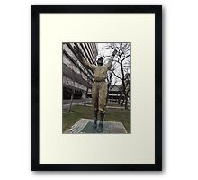 Jackie Robinson Statue, Journal Square, Jersey City Framed Print